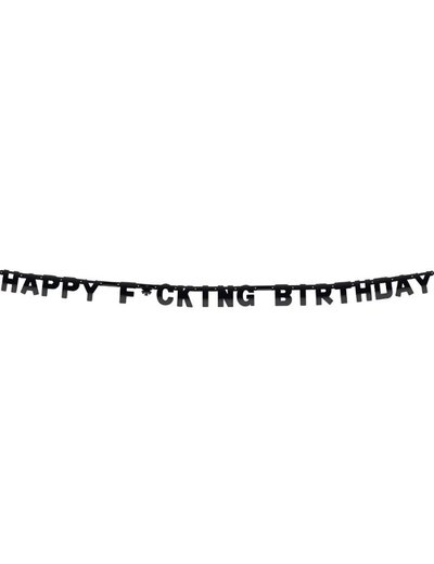 Happy F*cking Birthday Letter Banner