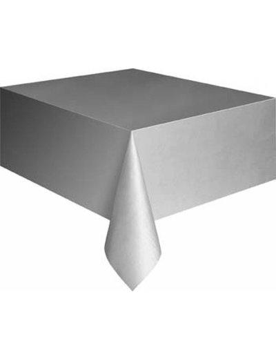 Zilveren Plastic Tafelkleed
