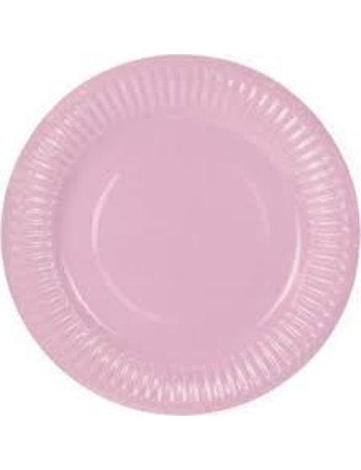 8x Baby Roze Weggooi Bordjes