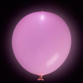 5x Fuchsia Lichtgevende LED Ballonnen