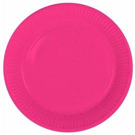 8x Fuchsia Roze Weggooi Bordjes