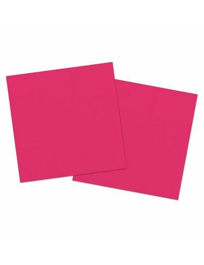 20x GroteFuchsia Roze Servetten