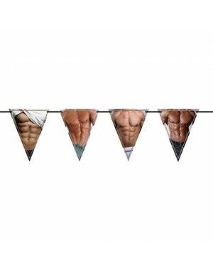Vlaggenlijn met Sexy Heren Print