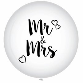 XXL Mr & Mrs Helium Ballon