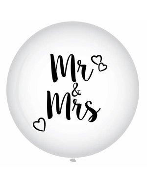 XXL Mr & Mrs Helium Ballon