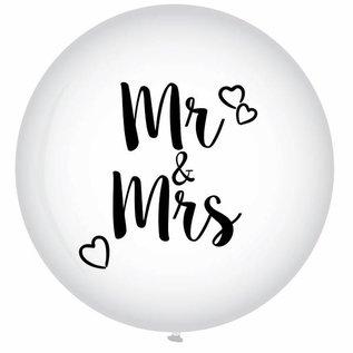 Witte XXL Mr & Mrs Helium Ballon