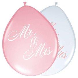 Mr & Mrs Roze en Witte Ballonnen