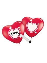 Beschrijfbare Rode Hartjes Ballonnen