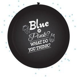 Blue or Pink What do you Think Ballon