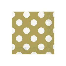 Gouden Polka Dot Servetten