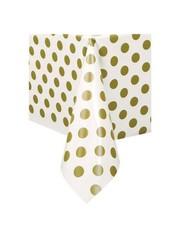 Wit Tafelkleed met Gouden Stippen