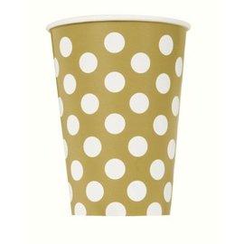 Gouden Polka Dot Bekers
