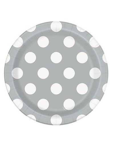 Zilveren Polka Dot Bordjes