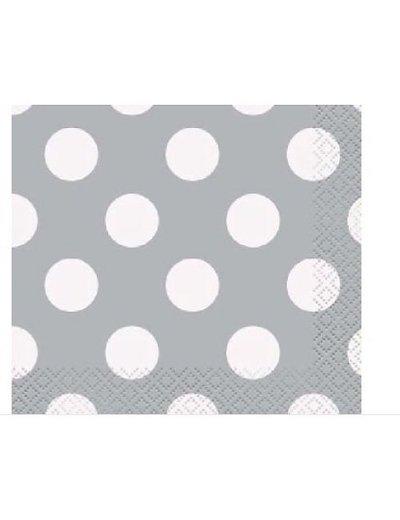 Zilveren Polka Dot Servetten