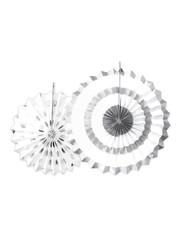 Witte Waaiers met zilveren Printjes