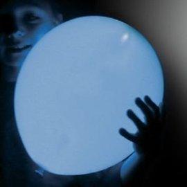 5x Lichtblauwe Lichtgevende LED Ballonnen