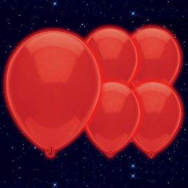 5x Rode Lichtgevende LED Ballonnen