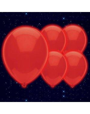 LED Ballonnen Rood - 5stk