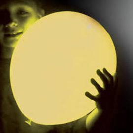 5x Gele Lichtgevende LED Ballonnen