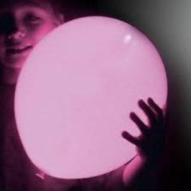 5x Lichtroze Lichtgevende LED Ballonnen
