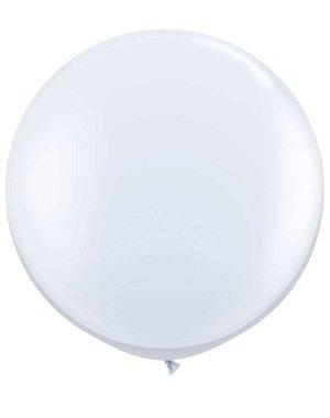 Topballon Wit  XL - 90cm
