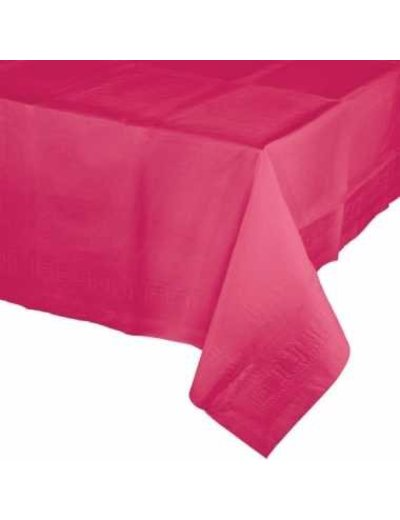 Magenta Roze Plastic Tafelkleed