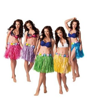 Hawaii Aloha Grasrokjes Div Kleuren