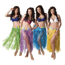 Lange Hawaii Aloha Grasrokjes Div Kleuren