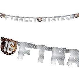 Stoere finally sixteen 16 letter banner