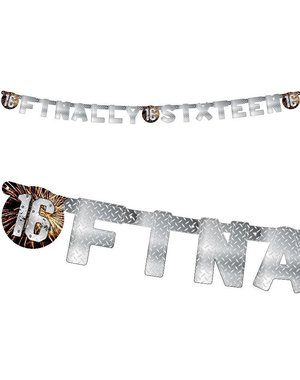 Stoere finally sixteen 16 letter banner