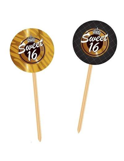 Zwart Gouden Sweet 16 Prikkers