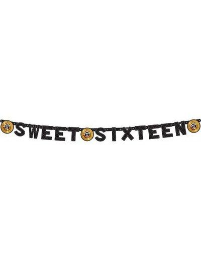 Zwart Gouden Sweet 16 Banner