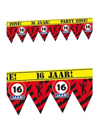 16 jaar Party Zone Afzettape