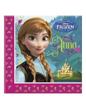 Roze Frozen Anna Elsa Servetten