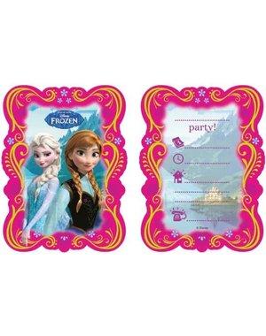 Roze Frozen Uitnodigingen