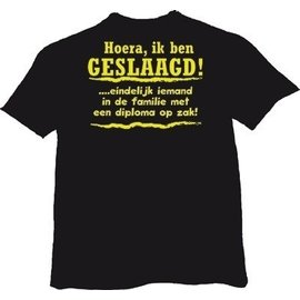 Hoera, ik ben geslaagd! T-shirt