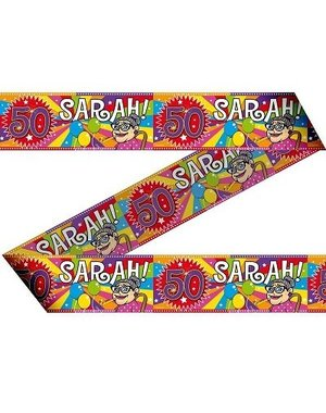 Afzetlint Knalfeest Sarah 50 jaar
