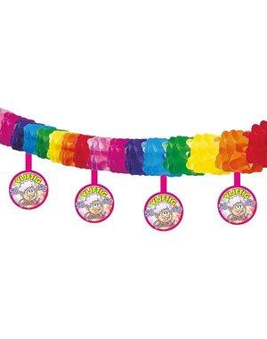 Sarah 50 jaar regenboog slinger
