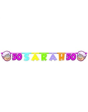 Sarah 50 jaar Letterbanner