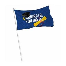 Congrats you did it Geslaagd Vlag