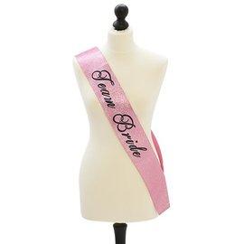 Roze glitter Team Bride sjerp