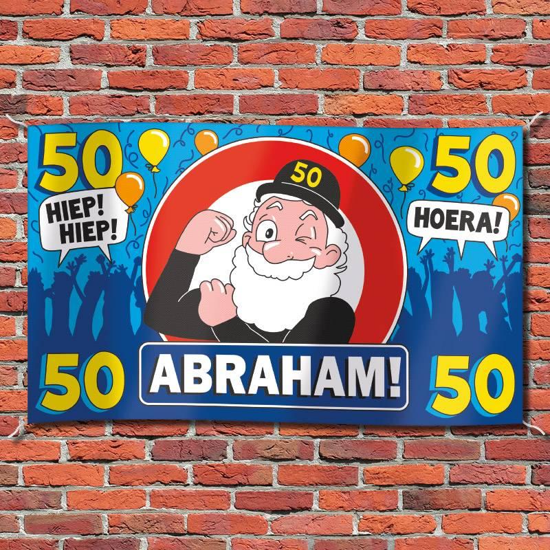 Beste Abraham 50 jaar XXL Gevelvlag - Feestperpost GM-83