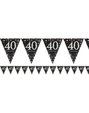 Zwart Zilver Sparkling 40 jaar vlaggenlijn
