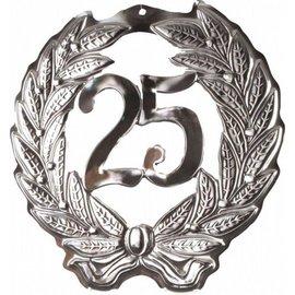 Zilveren 25 jaar getrouwd bord