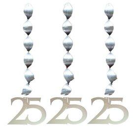 Zilveren spiraal versiering 25 jaar