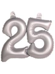 Zilveren opblaasbare 25