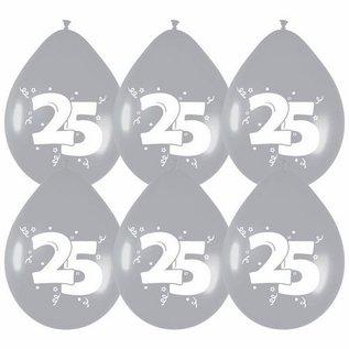 Zilveren ballonnen nummer 25