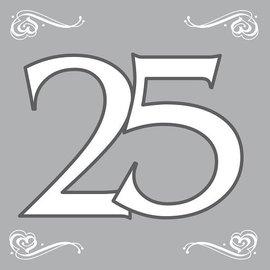 Zilveren servetten 25 jaar