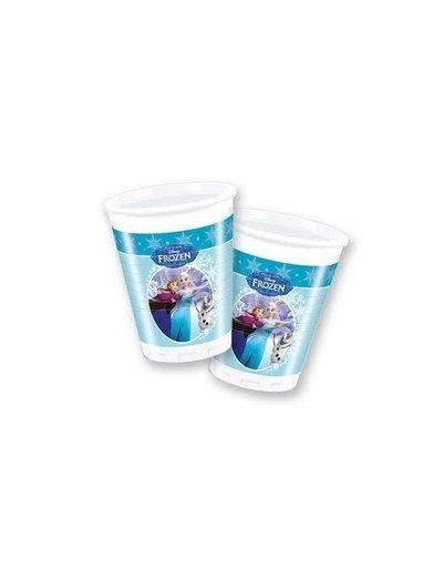 Blauwe Frozen Weggooi Bekers