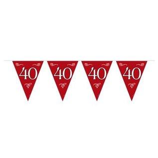 Rode 40 jaar Getrouwd Vlaggenlijn